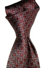 "$245 NWT TOM FORD Brown w/ Mauve SPOTS Men's 3.75"" woven luxury Silk tie Italy"