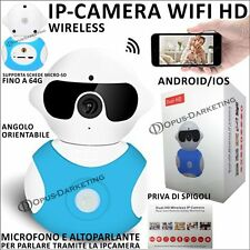 MINI VIDEOCAMERA DI SORVEGLIANZA WIFI IP CAMERA HD ROBOT WIRELESS AUDIO VIDEO