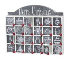 "NEW Primitives by Kathy 17"" Chalk Christmas Countdown Advent Calendar 23700"