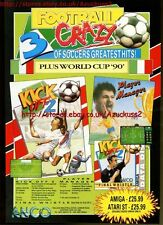 "Football Crazy Kick Off 2 Player Manager ""Anco"" 1991 Magazine Advert #5606"