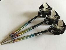 23g Rainbow Pegasus 90% Tungsten Darts Set, Unicorn Stems, Bulls Pegasus Flights