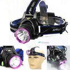 3000 Lumen XM-L T6 LED Rechargeable Headlamp Headlight Head Torch Lamp Light TL