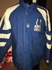 INDIANAPOLIS COLTS COAT JACKET NFL STARTER CLASSIC HOODED FULL ZIP MEN'S SIZE L