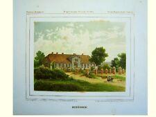 Schübben Skibno Zanow Köslin Kamin Pommern Polen Duncker Lithografie 1870