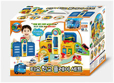 Tayo the Little Bus School Play Set Toy Mini Car Light Melody Children Kids Gift