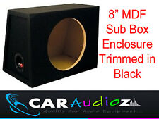 "8"" Inch 20 cm Single Sealed Black Carpeted Subwoofer Sub Box Bass Enclosure~~~~~"