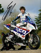 Guy Martin - 2015 Isle of Man TT Autographed 13.5 x 12 inch BMW Photograph.