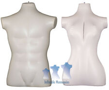 His & Her Special - Inflatable Mannequin - 3/4 Forms, Ivory