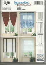 Burda Roller Blinds Pattern 1970 w uncut Pattern in German/English/Espanol/Frenc