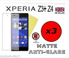 3x HQ MATTE ANTI GLARE SCREEN PROTECTOR COVER FILM SONY XPERIA Z3+ Z3 PLUS Z4