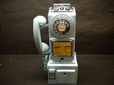Vintage Automatic Electric 3-Slot Rotary Payphone LPB-82-55 Blue