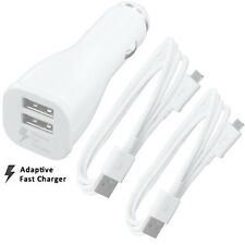 New Genuine Samsung Dual Port InCar Fast Charger 2.1Amp EP-LN920B - White
