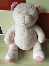 MOTHERCARE PINK TEDDY BEAR PLUSH COMFORTER SOFT TOY