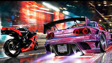"Poster 19"" x 13"" Speed Motorcycle Car Nissan GTR Road Speed Sparks Nitro"