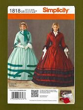 Simplicity Sewing Pattern 1818~Historic Civil War/Southern Belle Dress (16-24)