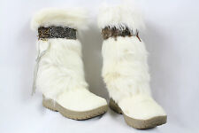 BEARPAW KOLA II Women's Ivory Winter/Snow Boots Size 6 (LOCATION 2-E)