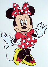 MINNIE MOUSE COLOUR VINYL STICKER, For Car, Wall, Laptop, Ipad (11 x 15cms)