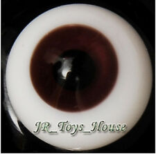 Glass Eye 14 mm Dark Brown for Super Dollfie MSD Lati Yellow DOT 1/4 42cm BJD