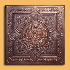 40 pc Antique Ceiling Tile - 20x20 LIMA Copper/Black  Tin-Look Easy Instalatio