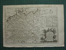 1771 ANTIQUE MAP of GERMANY ~ SAXONY AUSTRIA WEST PHALIA PRUSSIA MORAVIA BAVARIA