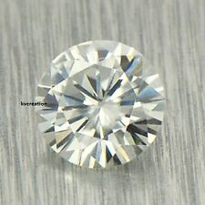 Fairy loose moissanite 0.42 ct 5.15 mm/vvs1 Nearly White Round Brilliant Cut kv