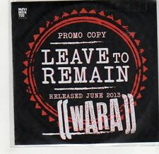(GF789) Wara, Leave To Remain - DJ CD