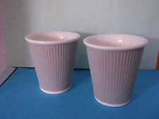A Pair of French Porcelain 'Paper Cup' Design Coffee Cups SEEING IS BELIEVING
