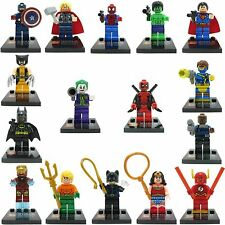 16pcs Super Hero Deadpool Batman Superman Wonder Woman Custom Lego Mini Figure
