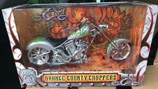 ORANGE COUNTY CHOPPERS IRON LEGENDS SILVER GREEN 1/6 DIECAST MOTORCYCLE 1:6 BIKE