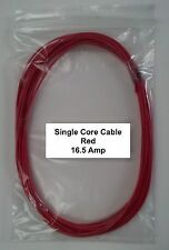 12V / 24V AUTOMOTIVE 5 METERS 16.5 AMP RED SINGLE CORE THIN WALL CAR BOAT CABLE