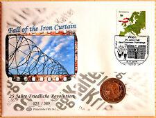FRV 062 NUMISBRIEF 25 anni caduta della cortina di ferro Austria 09.11.2014