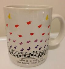 Hallmark Mugs Life Is A Song Music Notes White Coffee Tea Mug/Cup
