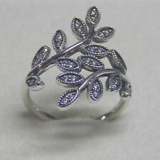 New Authentic Pandora Ring 190921CZ Sparkling Leaves Size 54 Box Included