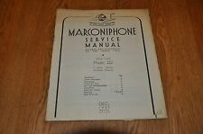 Marconiphone Model 222 issue 2 - 4 Valve Battery Receiver Genuine Service Manual