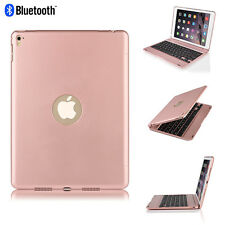 """For iPad Pro 9.7""""/Air 2 Folio Rose Backlit Bluetooth Keyboard Case Smart Cover"""