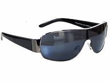 Sonnenbrille Aviator Brille Schwarz Weiß Monoglas Sportlicher Damen Herren M 5SW