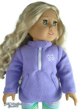 """SALE Purple Fleece Pullover Winter Jacket for 18"""" American Girl Doll Clothes"""