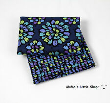 Beautiful Vera Bradley 100% Cotton Fabric(Indigo Pop) —— 2 Matching Fat Quarters