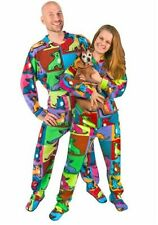NWT WARHOL Chihuahuas Dog Footed Pajamas One Piece Polar Butt-Flap ALMOST GONE