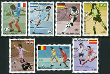 Nicaragua C1143-C1149,MI 2724-2730,CTO.World Cup,Mexico.Players,Natl. Flags,1986