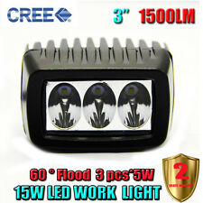 3 inch 15W Cree Flood LED Work Light Bar Dome Truck Jeep Car Lamp Off Road SUV