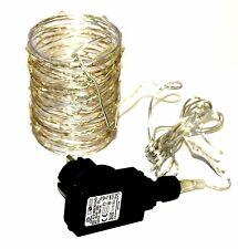 100er LED Lichterkette Micro Drahtlichterkette  Draht Lichter Strom-betrieb (11)