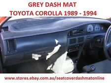 GREY DASH MAT, DASHMAT, DASHBOARD COVER FIT TOYOTA COROLLA 1989-1994, GREY