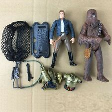 2pcs Star Wars LEGACY Han Solo, Chewbacca & C-3PO Action Figures Hot Toys S447