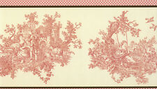 Waverly Pretty Pink French Toile Wallpaper Border