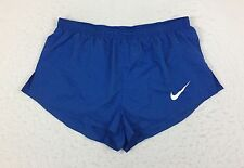Nike Racing Elite Pro Sponsored Kit Blue Split Leg Running Shorts Men's Large L