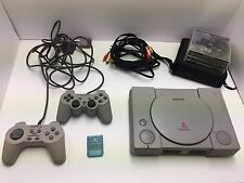 Sony PlayStation Console Bundle W/15 Games 2 Controllers 100% Working PS1