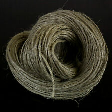 50 metre UNWAXED LINEN TWINE  STRING FLAX CORD SHABBY CHIC VINTAGE RUSTIC THREAD