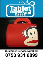 Red Paul Frank Monkey Hard Shell Carry Case/Bag for Samsung Galaxy Tab 2