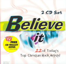 BELIEVE IT - 22 SONGS FROM TOP CHRISTIAN ROCK ARTISTS! BRAND NEW, SEALED - 2 CDs